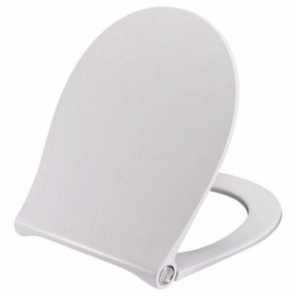 Pressalit Sway Uni 970 toiletsæde med softclose og lift-off. Inkl. beslag i rustfrit stål. Hvid