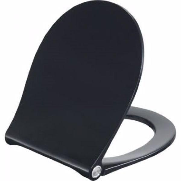 Pressalit Sway Uni 970 toiletsæde med softclose og lift-off. Inkl. beslag i rustfrit stål. Sort