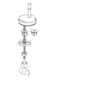 Pressalit universalbeslag RAJA BM5 til lift-off rustfri Stål