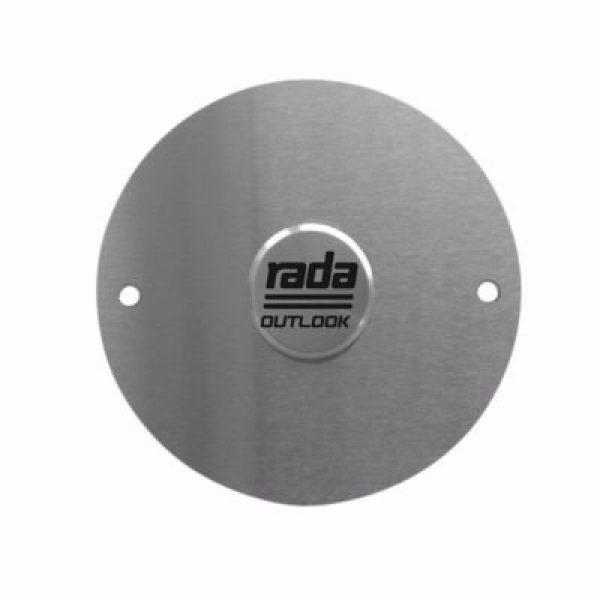 Rada outlook piezo sensor touch - rustfri ø100 mm