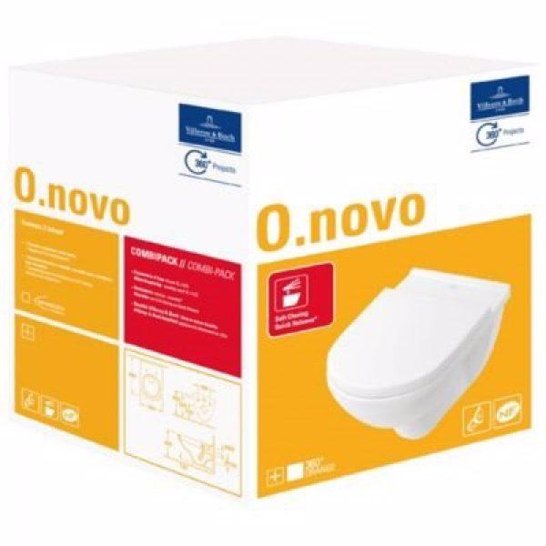 VB O.Novo hængetoilet m/sæde t/indb.cist hvid alpin