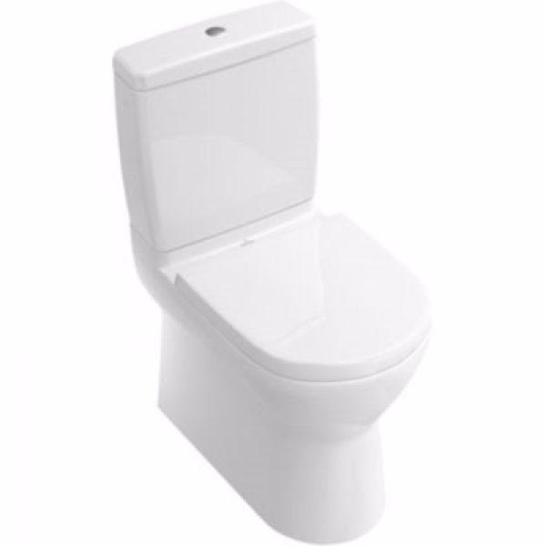 VB O.Novo toilet 640x360x430mm skjult P-lås hvid alpin