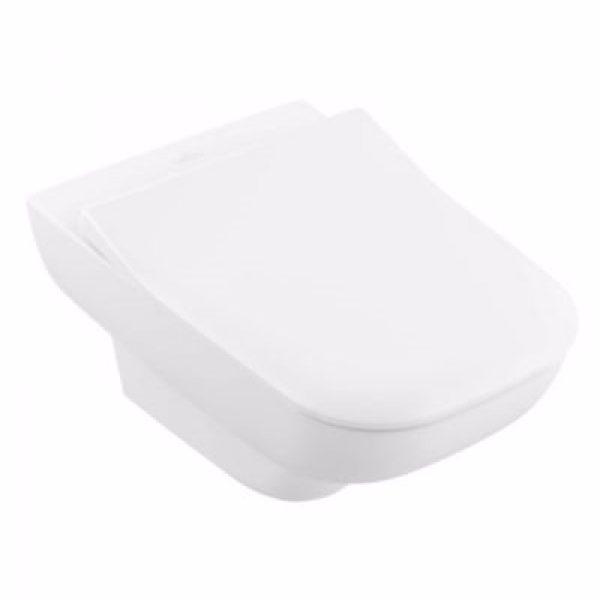 V&B Joyce hængeskål 530 mm. Hvid Ceramic+ med åben skyllerand. Uden sæde