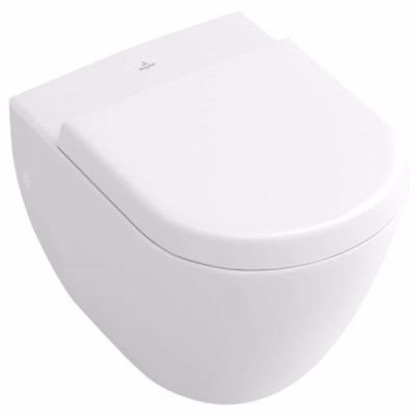 hængetoiletskål V & B COMPACT t/indb.cist ceramic+ porcel