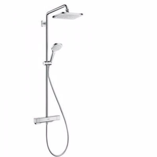hansgrohe Croma E 280 SHP EcoSmart 1jet.Inkl.hovedbruser,håndbruser,brusetermostat,bruserslange