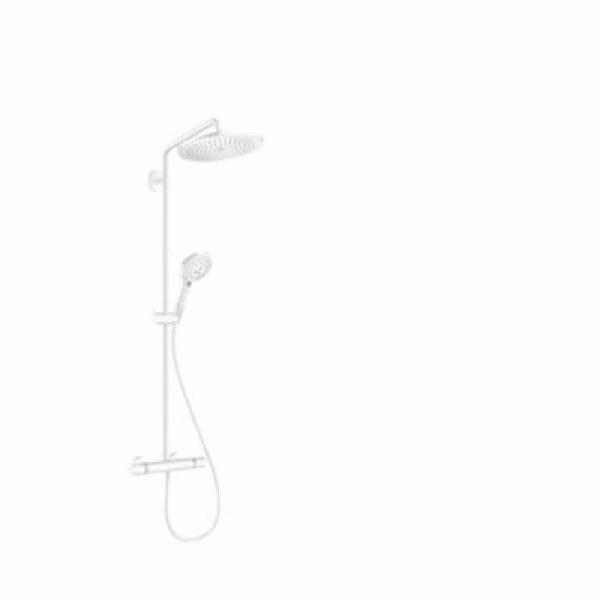 hansgrohe Croma Select S showerpipe 280 med Raindance Select S 120 3jet håndbruser, mat hvid