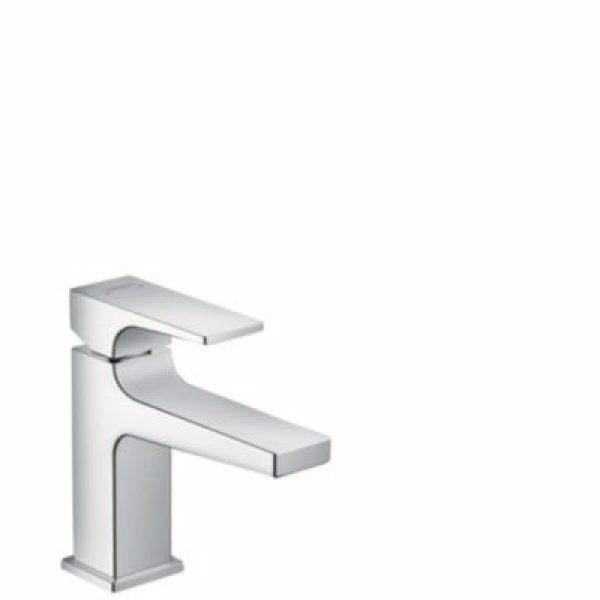 hansgrohe Metropol 100 håndvaskarmatur med push-open bundventil, Krom