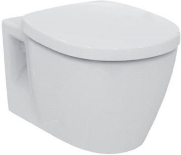 Ideal standard Connect hængeskål Rimless inkl. softclose sæde. Til indbygningscisterne 6 el. 4,