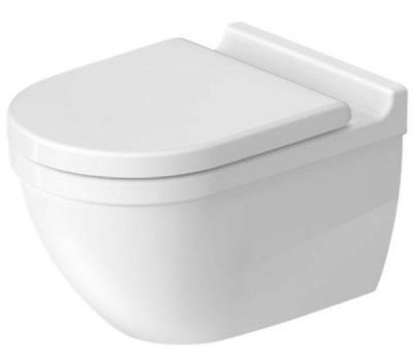 Duravit Starck3 hængeskål & toiletsæde Hvid Højglans, 370x540x420 mm