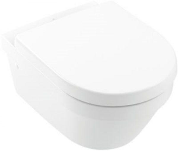 V&B Architectura hængeskål med softclose toiletsæde, åben skyllerand, hygienic flush