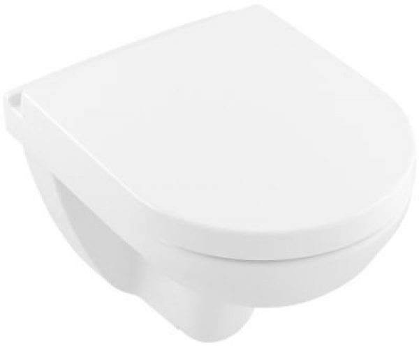 V&B O.Novo kombi hængeskål med softclose toiletsæde, kompakt, hygienic flush