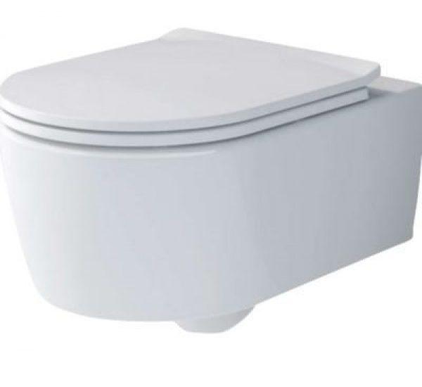 V&B Soul hængeskål med softclose toiletsæde, åben skyllerand, hygienic flush