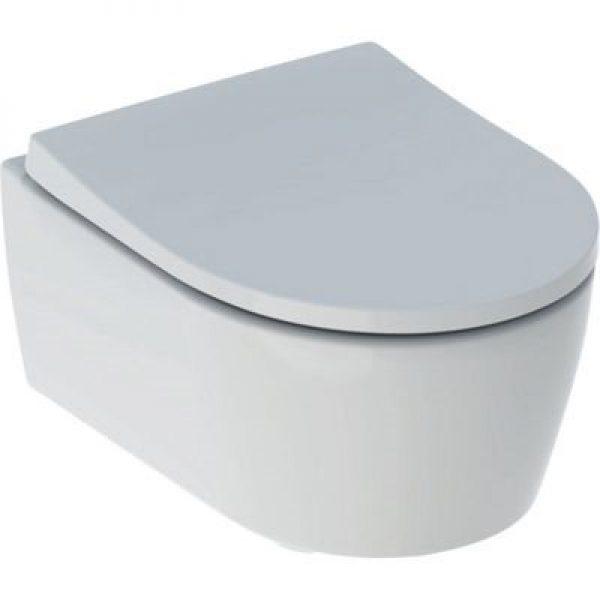 Geberit Icon hængetoiletskål/sæde 366x490x381mm t/indb. cist hvid