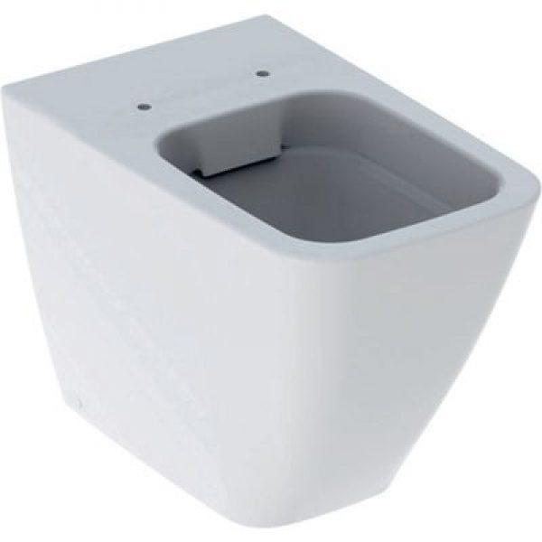 Geberit Icon square toiletskål 350x560x405mm t/indb.cist hvid