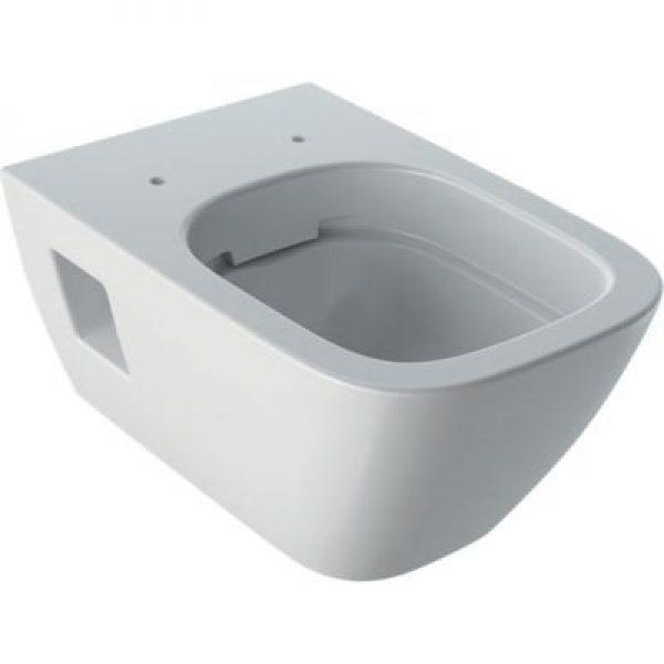 Geberit Renova plan hængetoiletskål 350x540x330mm rimfree hvid