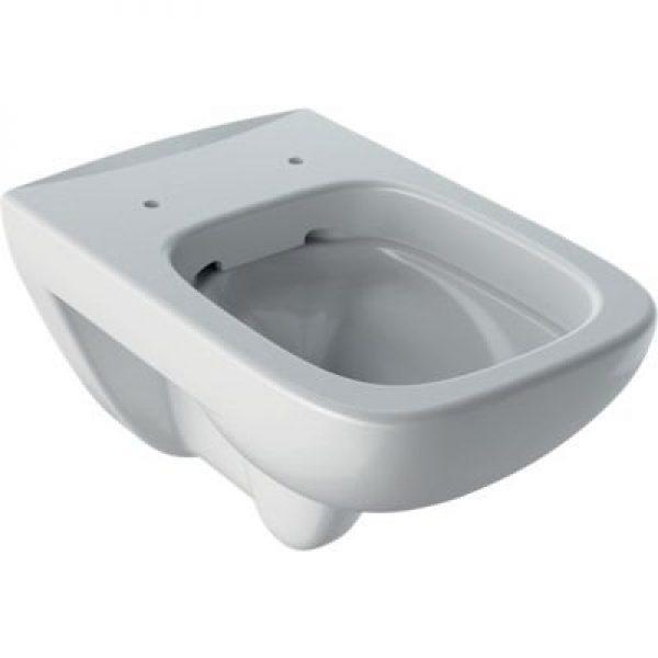 Geberit Renova plan hængetoiletskål 355x540x345mm t/indb.cist hvid