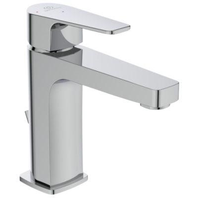 Ideal Standard Cerafine D håndvaskarmatur, koldstart, 5 l/m, Tud H:120 L:104 med træk-op, Krom