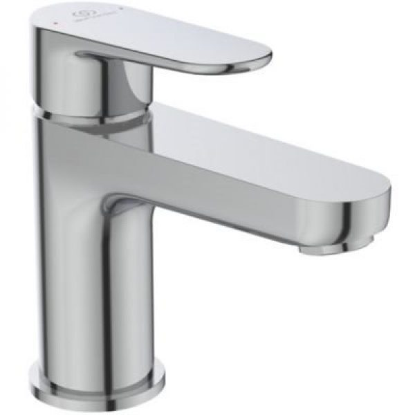 Ideal Standard Cerafine O håndvaskarmatur, 5 l/min, Tud L:114 H:84 med træk-op, Krom