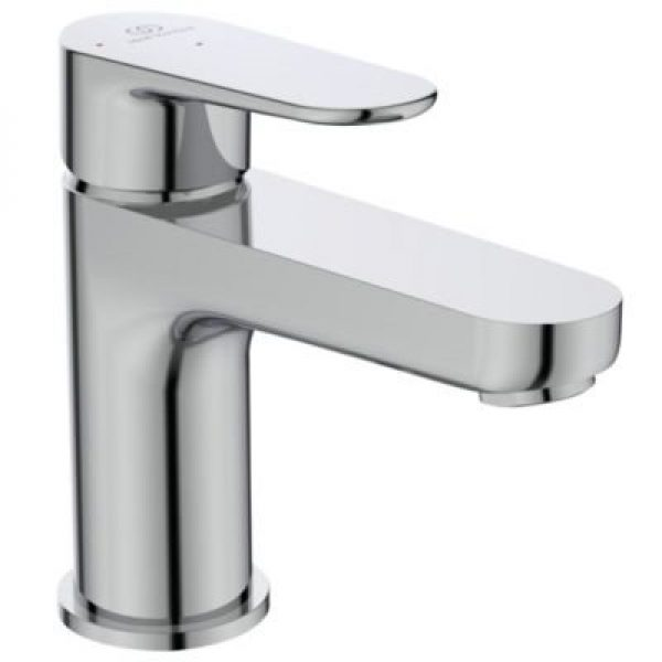 Ideal Standard Cerafine O håndvaskarmatur, koldstart, 5 l/min, Tud L:114 H:84 med træk-op bundve